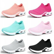 Womens Breathable Mesh Sport Running Sock Shoes Walking Slip-On Sneakers Comfy D