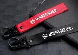 MG Car Brand Wrist Lanyard Keyring NEW UK Seller Black Red Key Ring