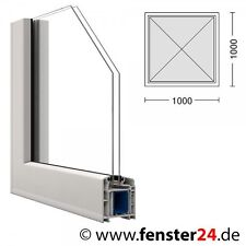 Kunststoff Fenster VEKA 100 x 100 cm festverglast mit Glasleisten