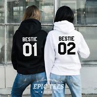 Bestie 01 Bestie 02 Matching Hoodies Pullovers Gift Ideas For Best Friend Women
