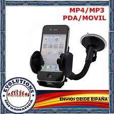 SOPORTE UNIVERSAL PARABRISAS VENTOSA COCHE MOVIL IPHONE 3 4 5 SAMSUNG S3 XPERIA