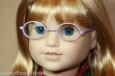Doll Clothes fitting 18 in American Girl Dolls Lilac Frame Oval Lens GLASSES