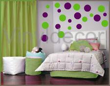 Wall stickers decal 264 POLKA DOTS CIRCLE room decor lv