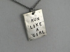 RUN LIKE A GIRL~18 in. chain~Running Necklace~Running Jewelry~Gift for Runners