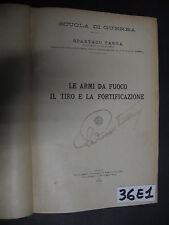Targa LE ARMI DA FUOCO IL TIRO E LA FORTIFICAZIONE 1924 (36 E 1)