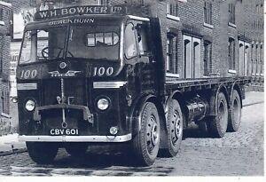 B/W PHOTO: W.H. BOWKER (BLACKBURN) LEYLAND OCTOPUS 8 WHEEL RIGID FLAT - CBV 601