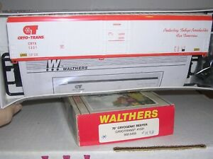 """WALTHERS #5455  Cryo-Trans 70' Cryogenic Reefer #1331 KIT """"H.O.Scale"""" 1/87"""