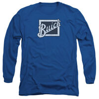 Buick DISTRESSED EMBLEM Licensed Adult Long Sleeve T-Shirt S-3XL