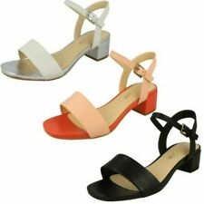Ladies Clarks Stylish Peep Toe Heeled Sandals Orabella Iris