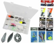 Sea Fishing Tackle Box Set Sea Floats Weights Mackerel Feathers Rig Beads Hooks