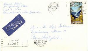 AU$ NEW ZEALAND 1969 28 C Fox Glacier Westland National Park slogan SWITZERLAND