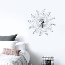 Moderne Wanduhr Küchenuhr Bürouhr Quartz Küchen Wohnzimmer Uhr Silber Eisen ALI