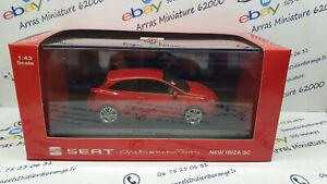 Seat New Ibiza SC rouge 1:43 eme avec boite plexi + suremballage  (  neuf  )