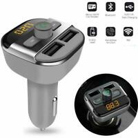 Wireless Bluetooth Car FM Transmitter Kit Dual USB Charger MP3 Player Handsfree