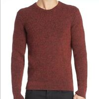 Rag & Bone Sweater M Red Vincent Crew Neck Long Sleeve Men's NWT $395 100% Wool