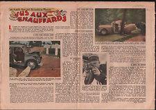 contrôle routier Gendarmes Gendarmerie Accidents de Voitures 1949 ILLUSTRATION