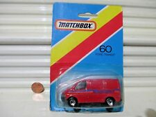 Matchbox 1986 MB60G MOTORSPORT Ford Transit Van New in Very Good Bubble Package