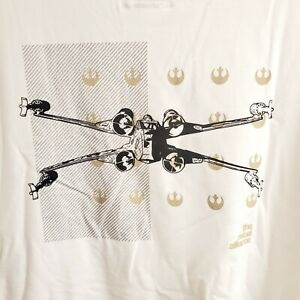 Under Armour Men's White Star Wars Rebel Alliance Loose Fit T-shirt Large C3A