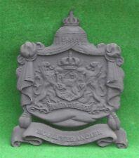 *GroßesKönigliches WappenSchild  AntikSchwarz-Gusseisen