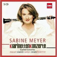 "SABINE MEYER ""KLARINETTENKONZERTE"" 5 CD NEU"
