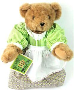 Vermont Teddy Bear Plush Prairie Dress + Apron w/ Tag Articulated Pioneer Girl