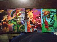 1995 Fleer Marvel Amazing Spider-man Masterpiece. (6) JUMBO PRINTS NOT MINT