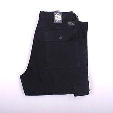 BNWT WAMPUM Cargo Navy Blu Denim Jeans 80s Comfort Fit Straight Leg Sz46 W30