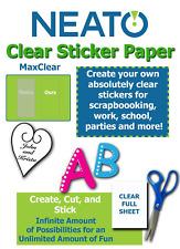 "Printable Transparent Sticker Paper - 8.5"" X 11"" Blank Custom Label Sticker - 10"