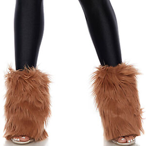 Galaxy Furry Ankle Legwarmers Fuzzy Boot Covers Costume Chewbacca Wookie 997904