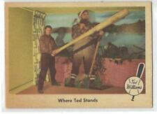1959 FLEER BASEBALL - TED WILLIAMS, WHERE TED STANDS #79