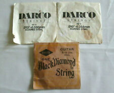 Vintage Guitar S 00006000 trings Black Diamond and Darco Lot of 3