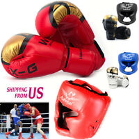 MMA Boxing Training gloves Face head Protective Gear Helmet Headgear Sparring