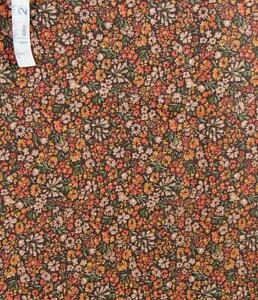 Rust,Brown Floral Print,Dark Brown Cotton Quilt Fabric,Crafts,Face Covers