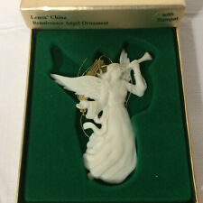 Lenox China Renaissance Angel w/Trumpet Christmas Ornament