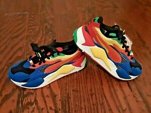 PUMA RS X3 RUBIKS 37342801 Shoes Sneakers Blue High Risk Red RSX3 CHOOSE SIZE