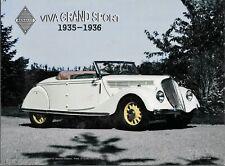 PLAQUE METAL vintage  RENAULT VIVA GRAND SPORT 1935  - 40 x 30 cm