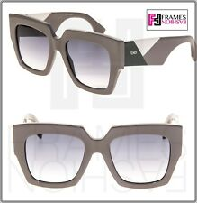 c127189c6724 FENDI FACETS FF0263S Mud Green Grey Gradient Chunky Oversized Sunglasses  0263