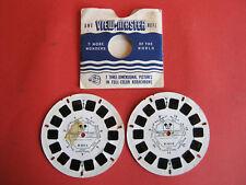 2 x alte Viewmaster 3D Bildscheibe Mickey Mouse B 551-1 u. B 552-2 + Schutzhülle