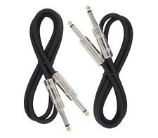 2 PACK 3 ft 1/4 to 1/4 pro audio sound speaker wire SPEAKON DJ cable 15 gauge