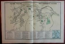 Globe Village Southbridge Centre 1870 Worcester Co. Mass. detailed map