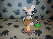 Littlest Pet Shop LPS Original Gift Mommy Deer & Baby Forest Lot