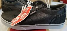 vans winston low metallic suede pewter uk 1.5 boys girls Bnib trainers skateshoe