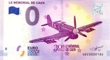 14 CAEN Le Mémorial 3, N° de la 2ème liasse, 2018, Billet 0 € Souvenir