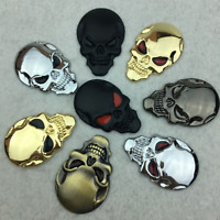 1pc 3D Metal Skeleton Skull Car Motorcycle Side Trunk Emblem Badge Decal Sticker