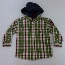 U.S. Polo Assn. Boys Sz 2T Toddler Button Hoodie Plaid Shirt EUC [T2]