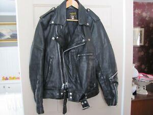 Vintage Vanson Original Motorcycle Leather Jacket.