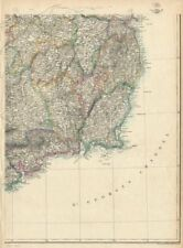 IRELAND SOUTH EAST. Wexford Waterford Kilkenny Wicklow Kildare. WELLER 1863 map