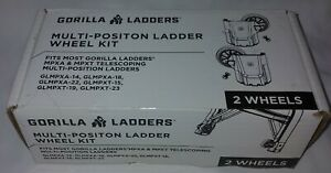 NEW 2 Pack Gorilla Ladders Multi-Position Wheel Kit GLMPXA MPXA MPXT Telescoping