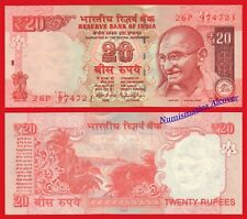 INDIA 20 Rupees rupias 2015 Gandhi Plate R Pick 103 SC / UNC