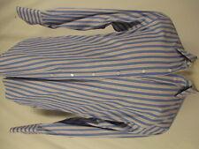 Hilditch & Key Mens Blue Stripe French Cuff Cotton Dress Shirt 16-34 England Mad